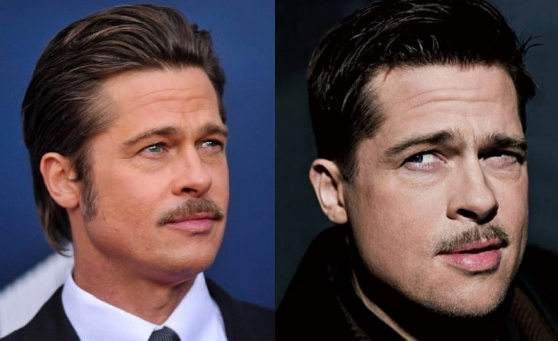 brad-pitt-mustache Famous Mustaches: 23 Looks You Need to Copy