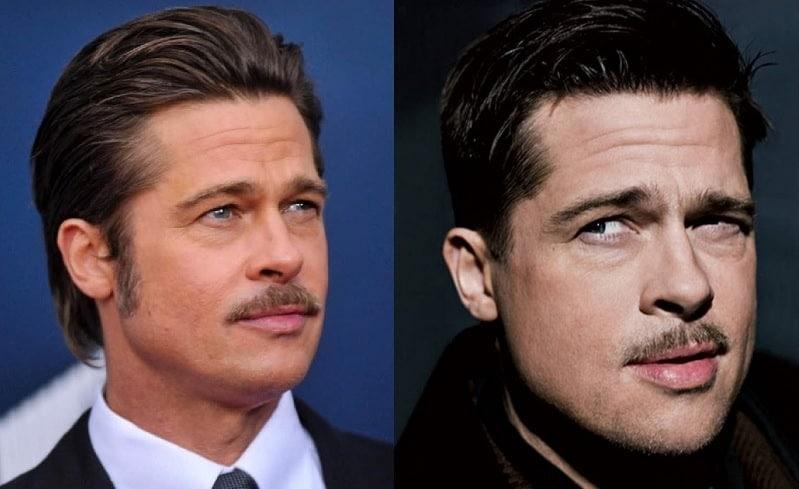brad-pitt-mustache 23 Famous Mustache Looks You Need to Copy