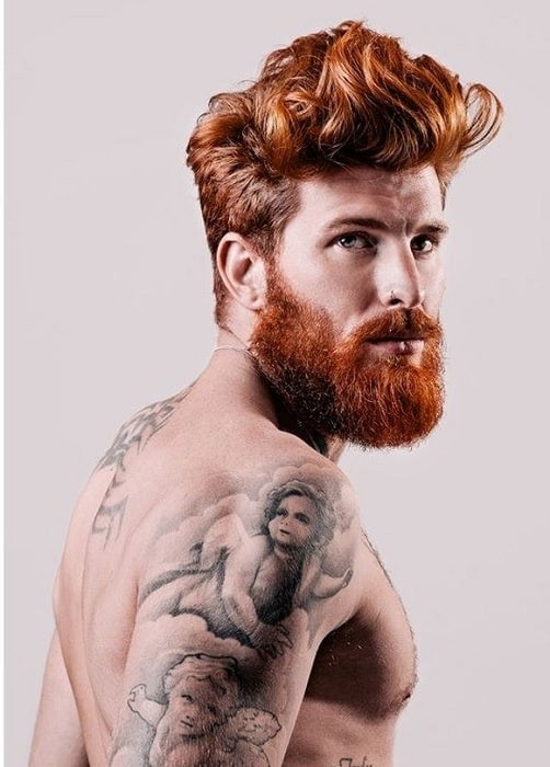 brown-hair-with-red-beard-4 15 Ways to Style Brown Hair with Red Beard