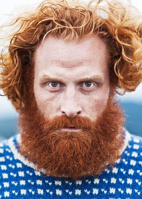 caramel-brown-hair-with-ginger-red-beard 15 Ways to Style Brown Hair with Red Beard