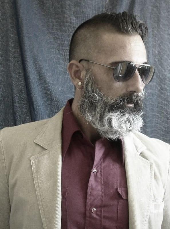 salt-and-pepper-beard-styles-21 21 Classic Salt and Pepper Beard Styles (2020)