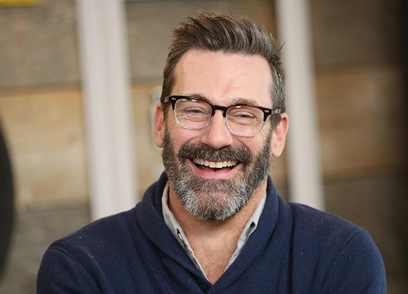 actor with salt and pepper beard Jon Hamm