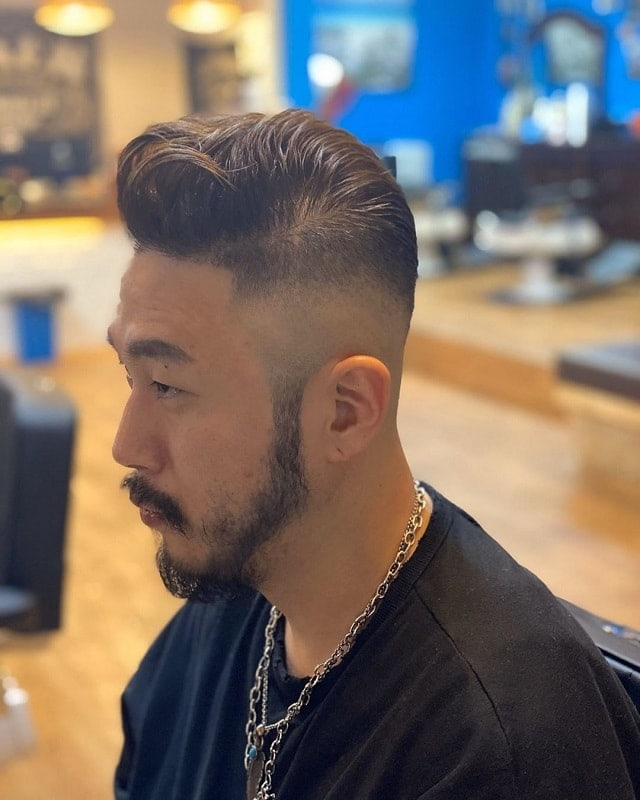 asian-fade-with-beard 15 Perfect Fade Haircuts with Beards