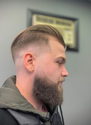 bald fade with beard