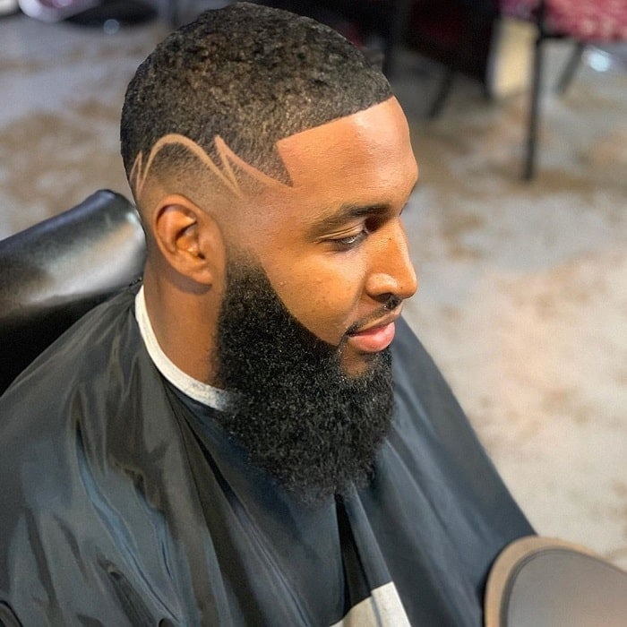 bald-fade-with-beard-for-black-men 10 Sexiest Bald Fade with Beard Styles