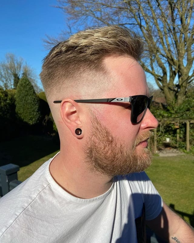bald-fade-with-beard-for-white-guy 10 Sexiest Bald Fade with Beard Styles