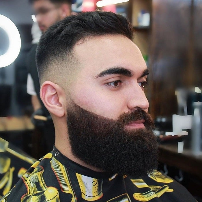 bald-fade-with-full-beard 10 Sexiest Bald Fade with Beard Styles