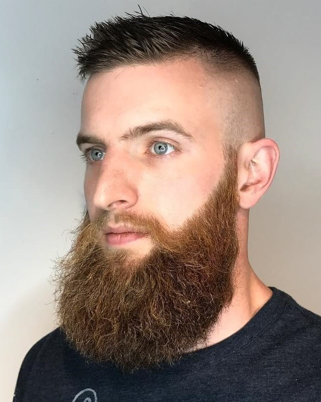 bald-fade-with-long-beard 10 Sexiest Bald Fade with Beard Styles