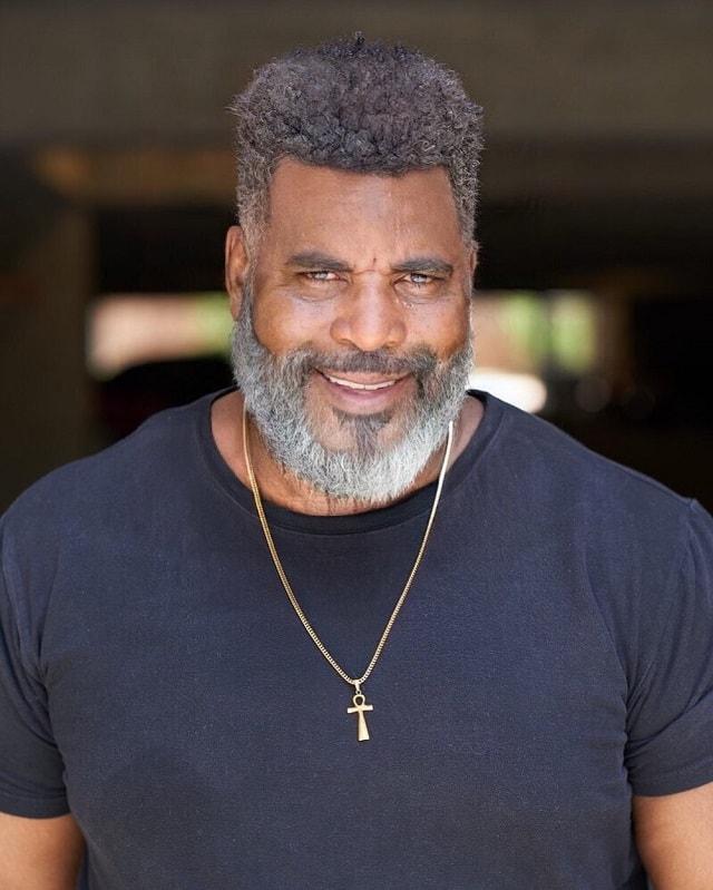 black men undercut with beard