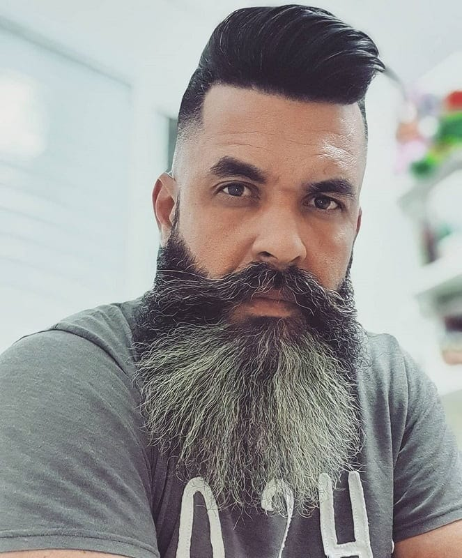 fade-haircut-with-full-beard 15 Perfect Fade Haircuts with Beards