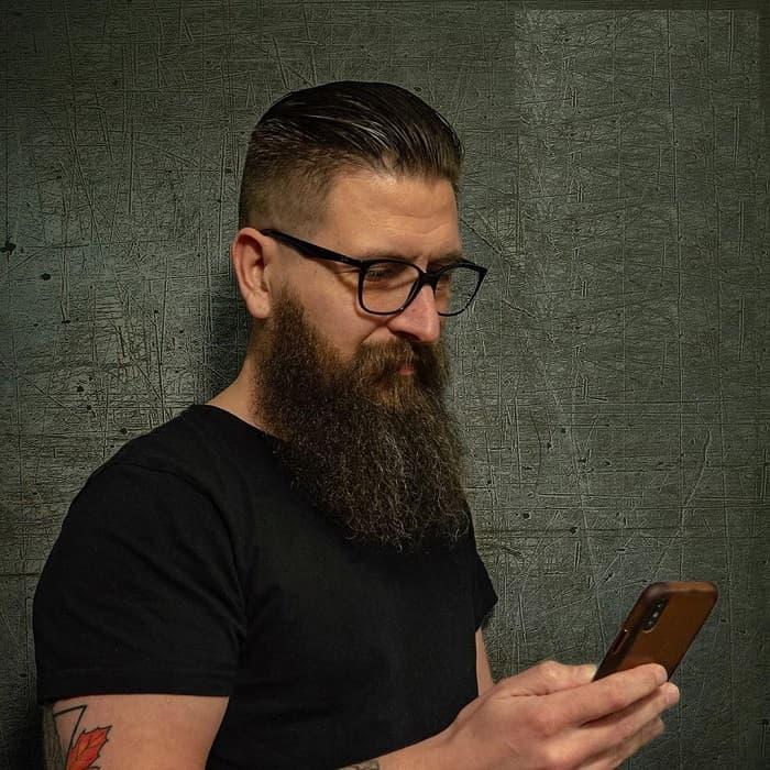 fade haircut with long beard