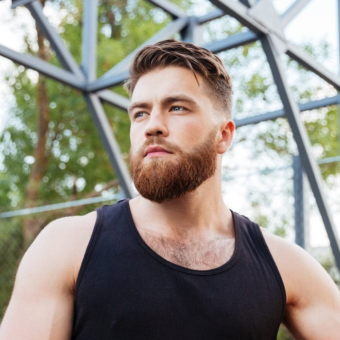 fade-haircut-with-short-beard 15 Perfect Fade Haircuts with Beards