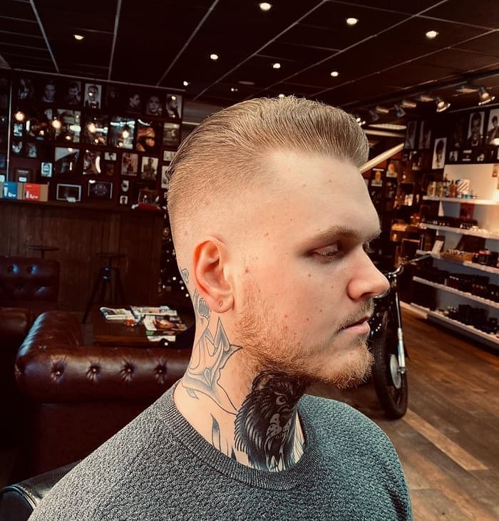 fade-haircut-with-stubble-beard 15 Perfect Fade Haircuts with Beards