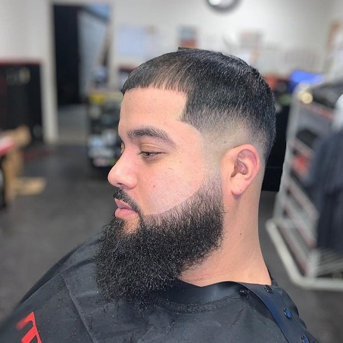 low-bald-fade-with-beard 10 Sexiest Bald Fade with Beard Styles