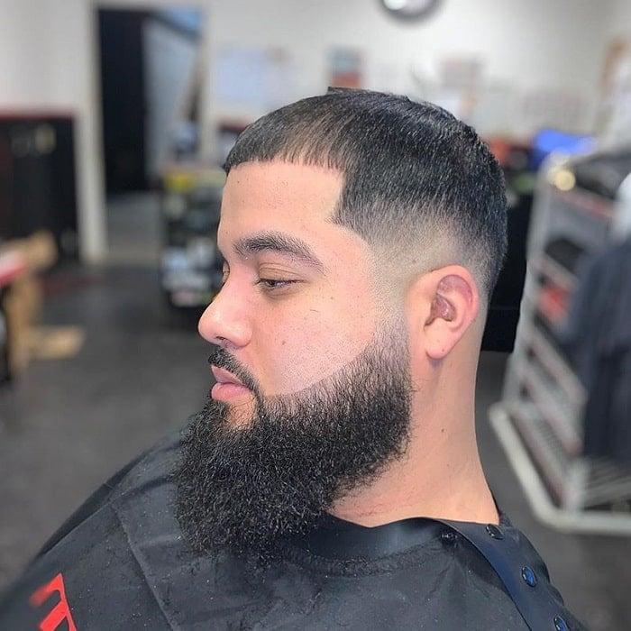 low-bald-fade-with-beard 10 Sexiest Bald Fade with Beard Styles