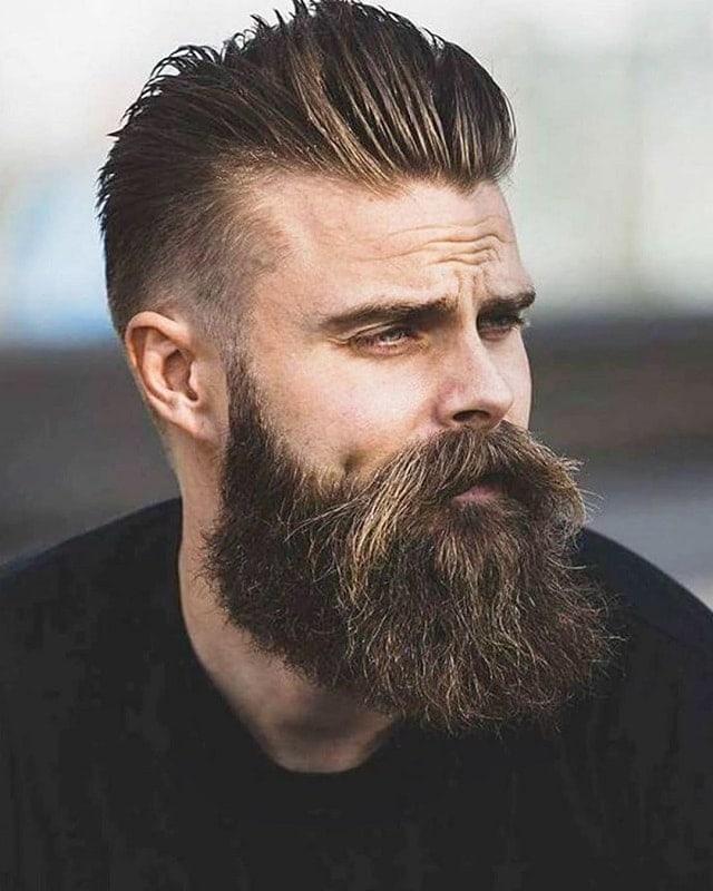 medium beard with mustache