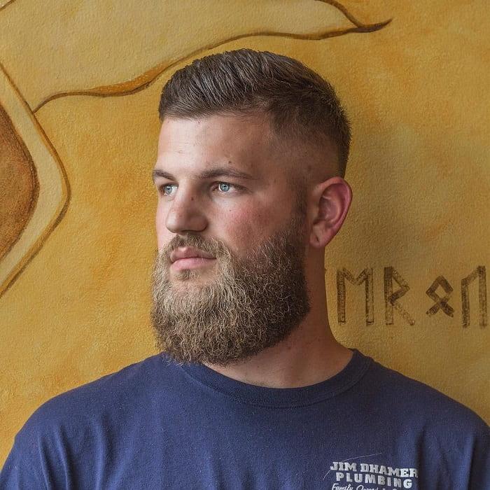 medium beard with short hair