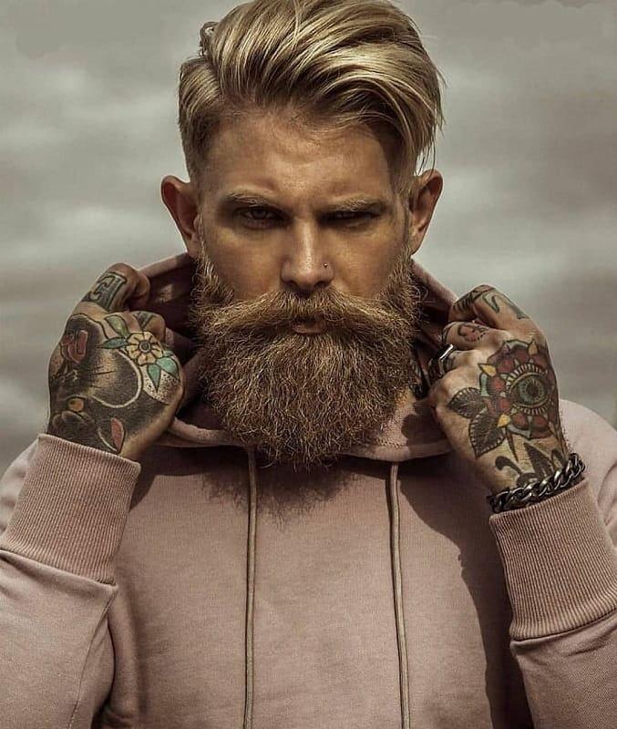 medium brown beard