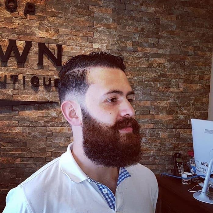 medium square beard