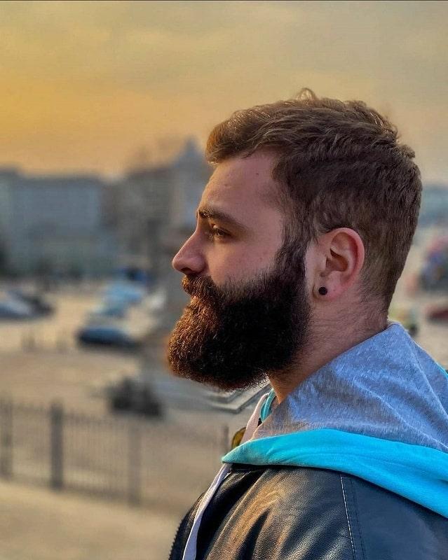 medium thick beard