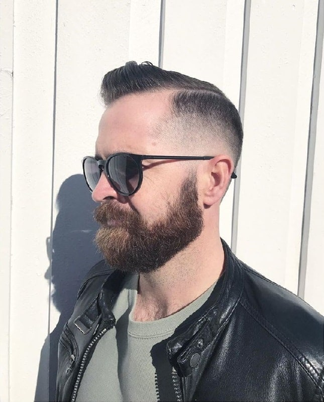 mid-fade-haircut-with-beard 15 Perfect Fade Haircuts with Beards