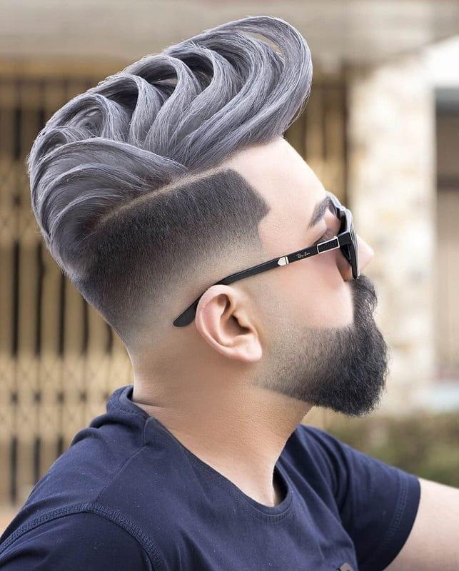 skin fade haircut with beard