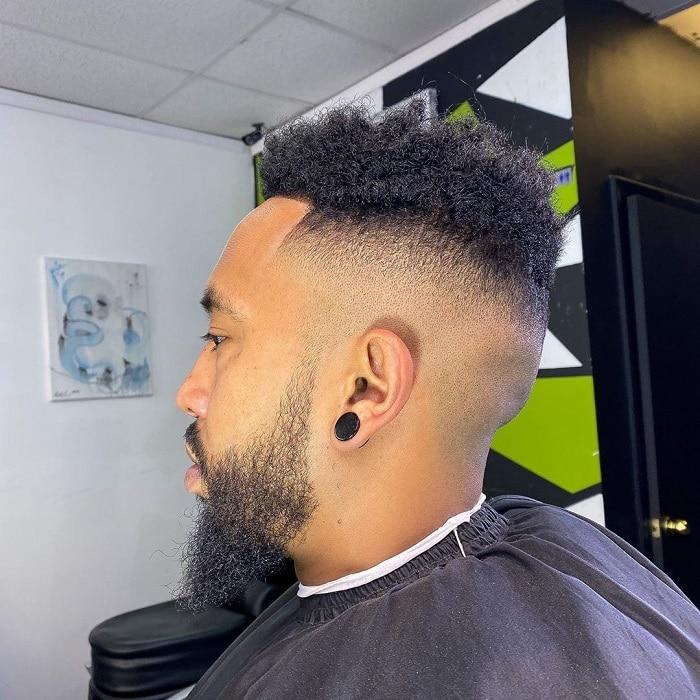 undercut fade with beard
