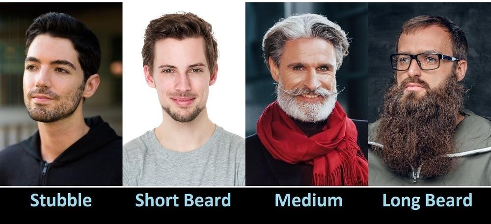 Different Beard Lengths & Styles
