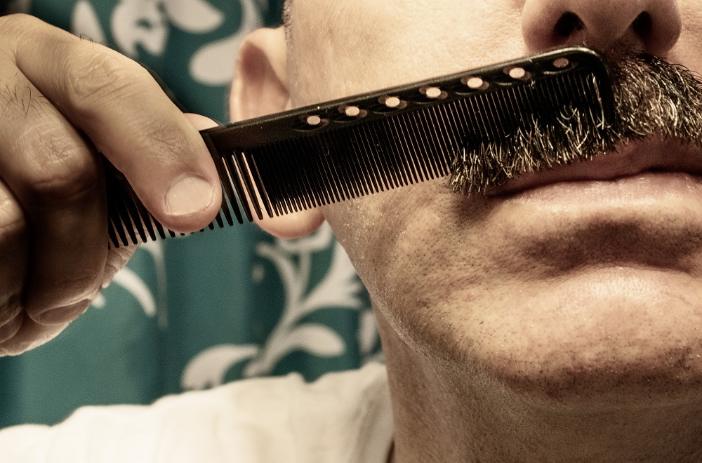 Combing Mustache
