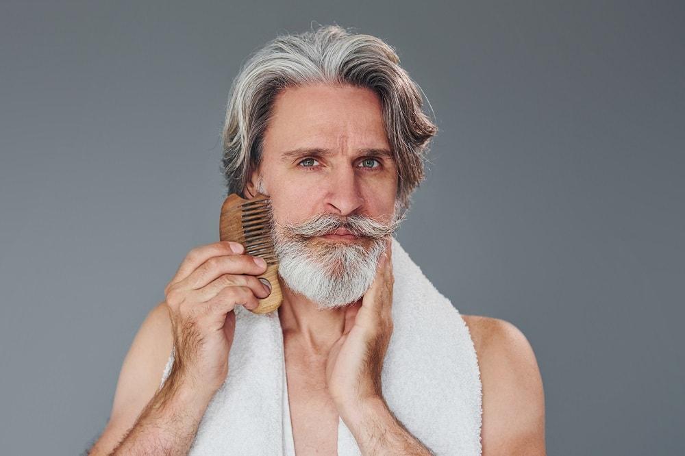 Taking care of grey beard