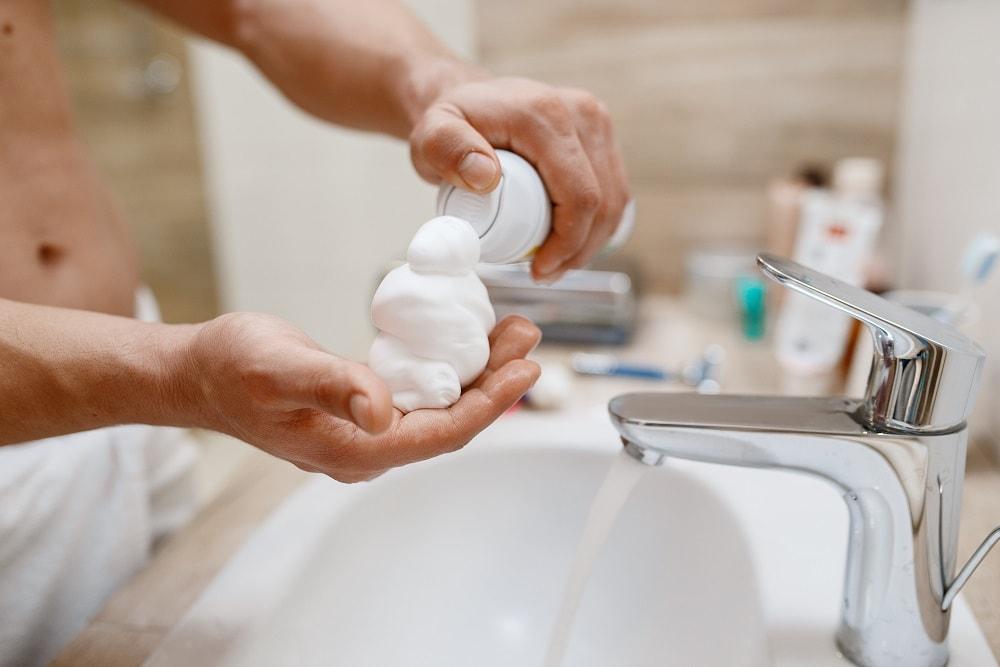shaving cream for electric razor