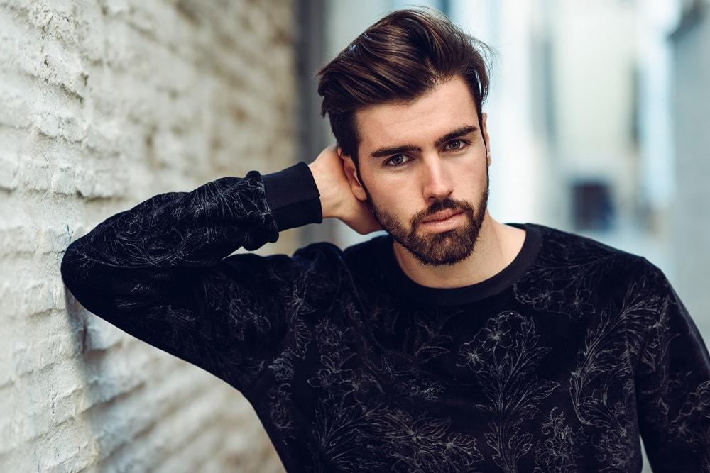 young stylish bearded man