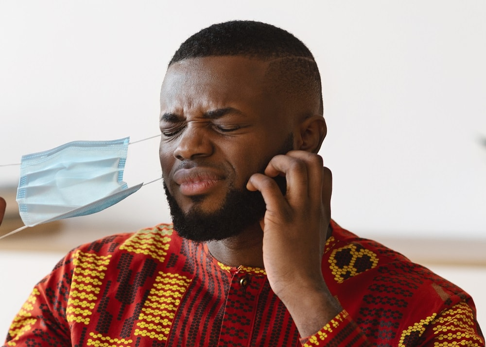 Black men's Itchy beard