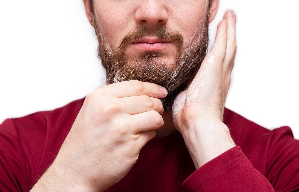 Using Soap causes dry skin under beard
