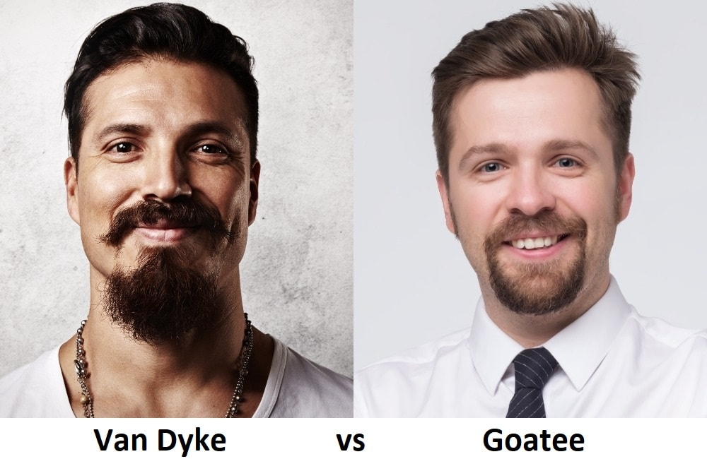 Difference between Van Dyke and Goatee Beard