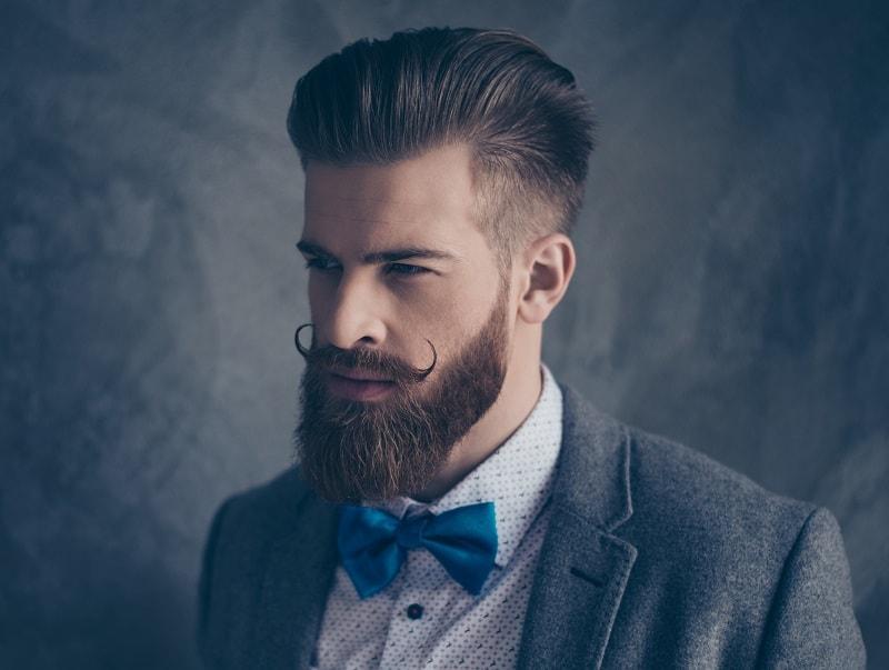 groomed mustache