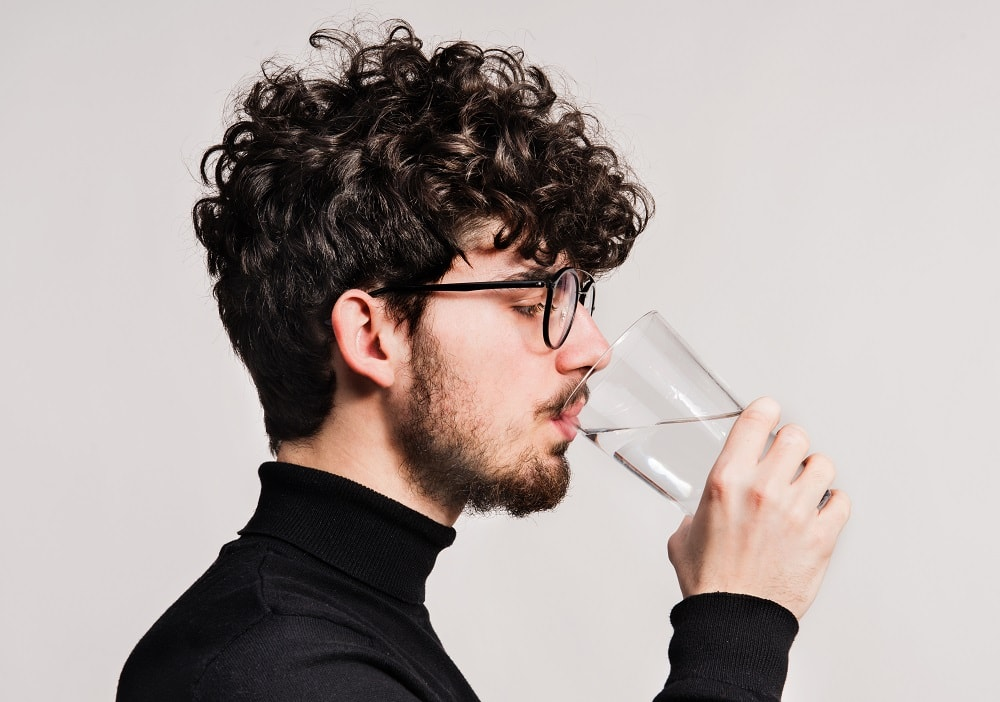 maintain proper hydration to grow mustache
