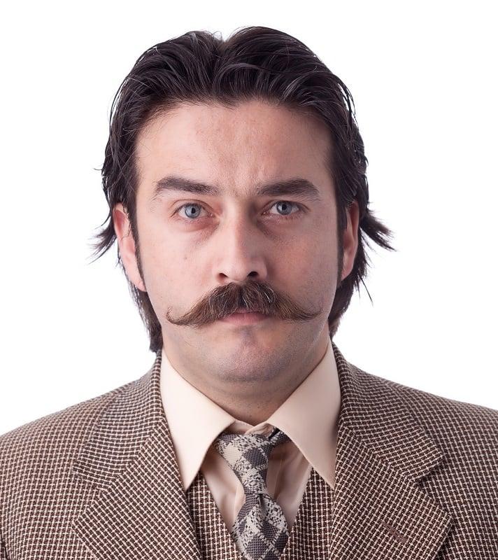 men's thick mustache