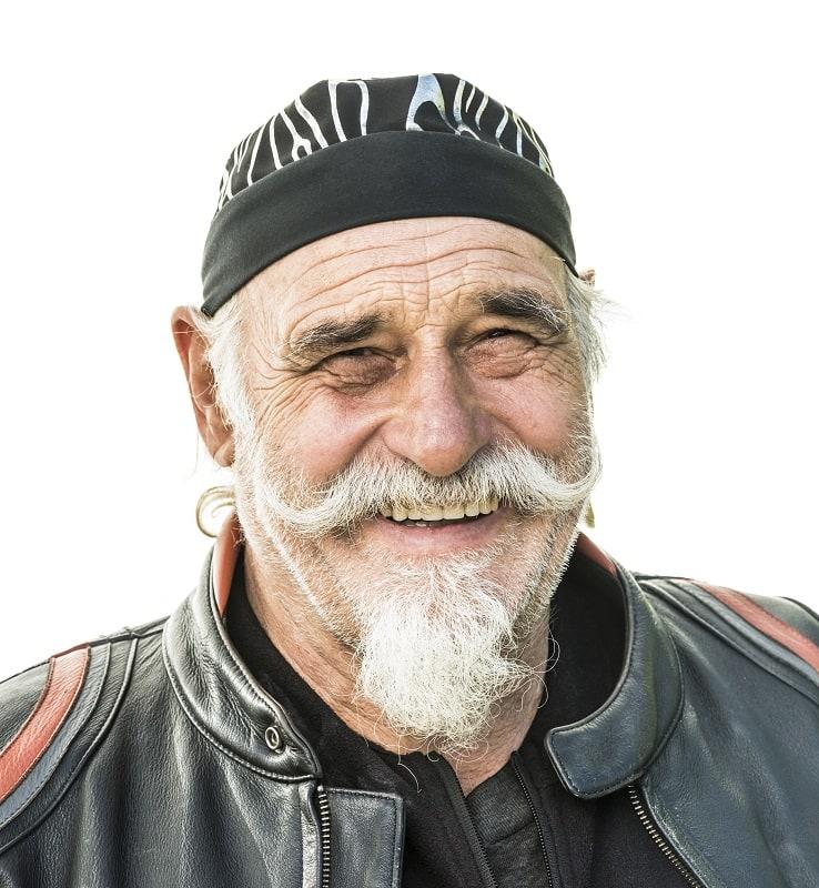 thick mustache for older men