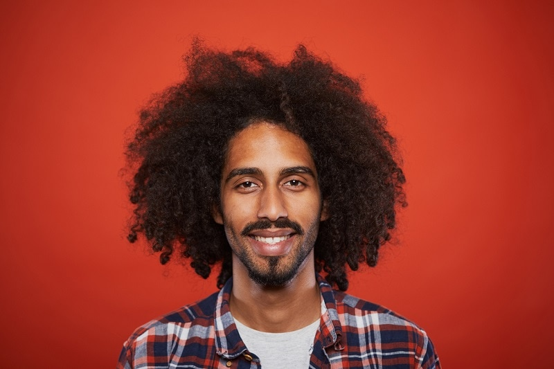 Afro with a Goatee