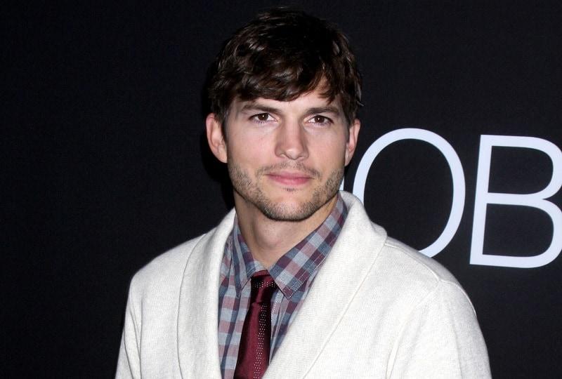 Ashton Kutcher with Thin Mustache