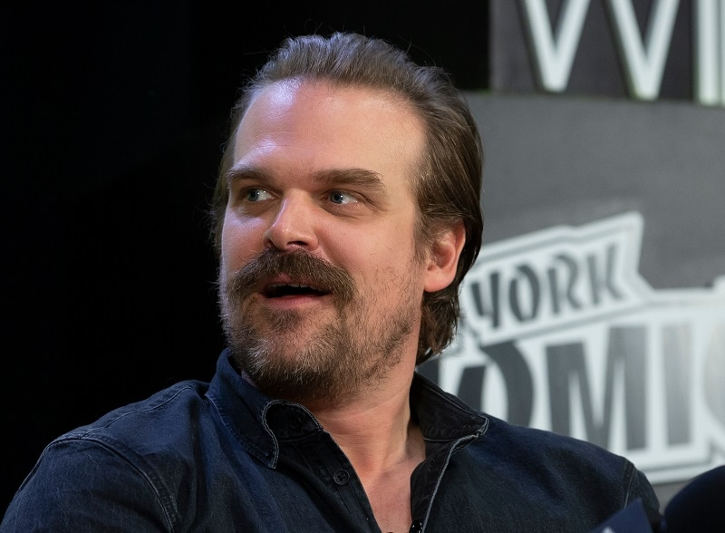 David Harbour with Mustache