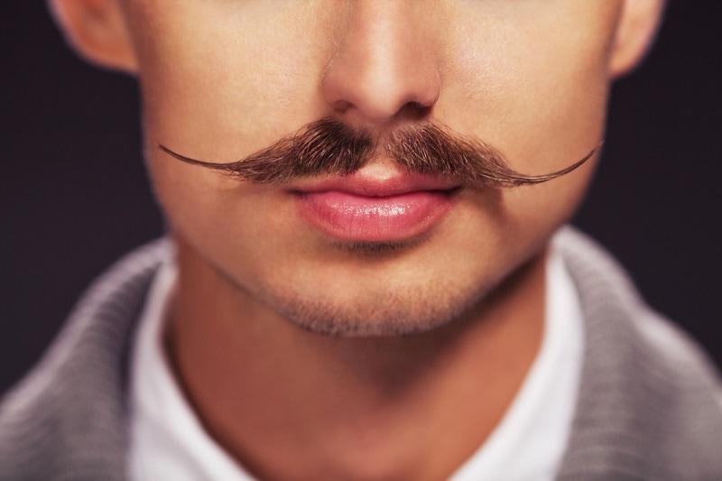 English Mustache with Light Chin Beard