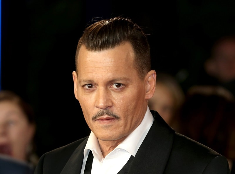 Johnny Depp with Pyramidal Mustache