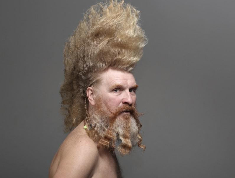 Large Mohawk with Viking Style Beard