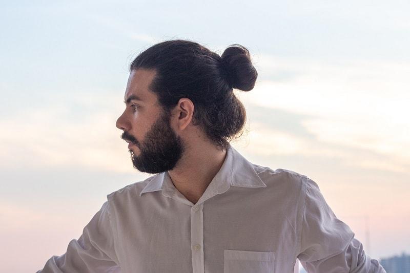 Man Bun with Full Beard