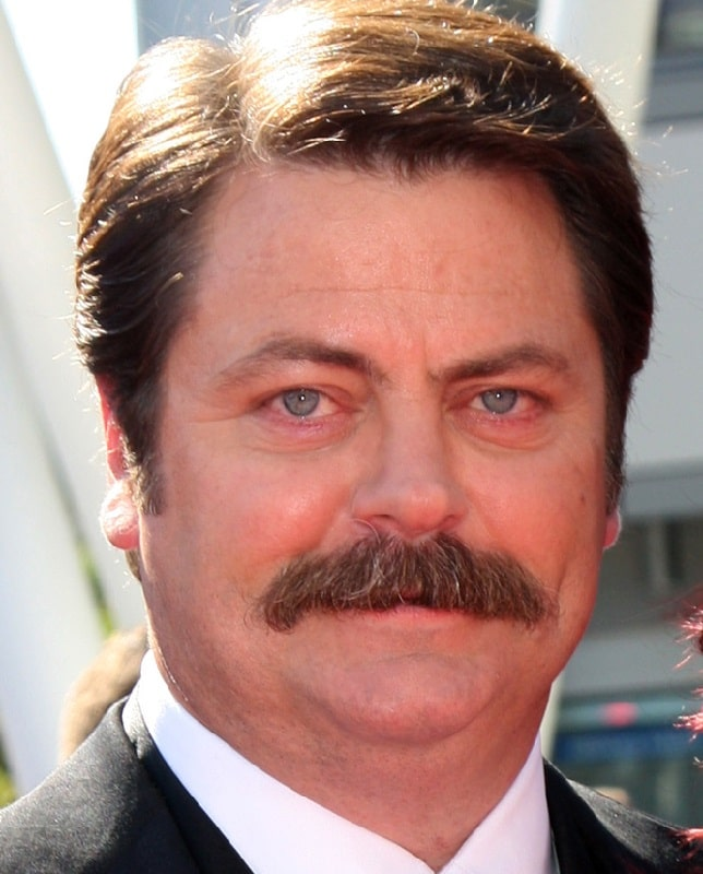 Nick Offerman with Cookie Duster Mustache