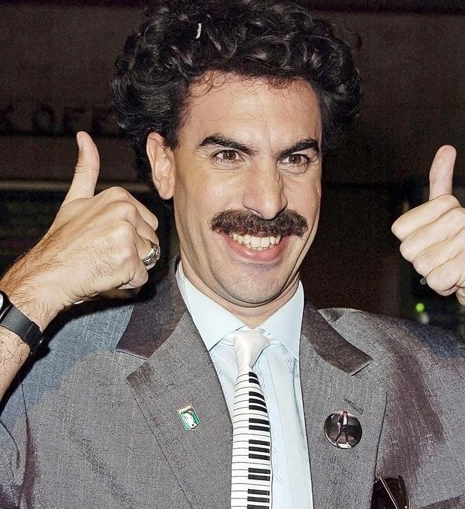 Sacha Baron Cohen with Mustache