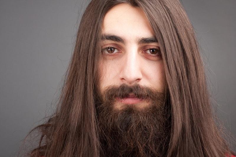 Straight Long Hair with Long Beard