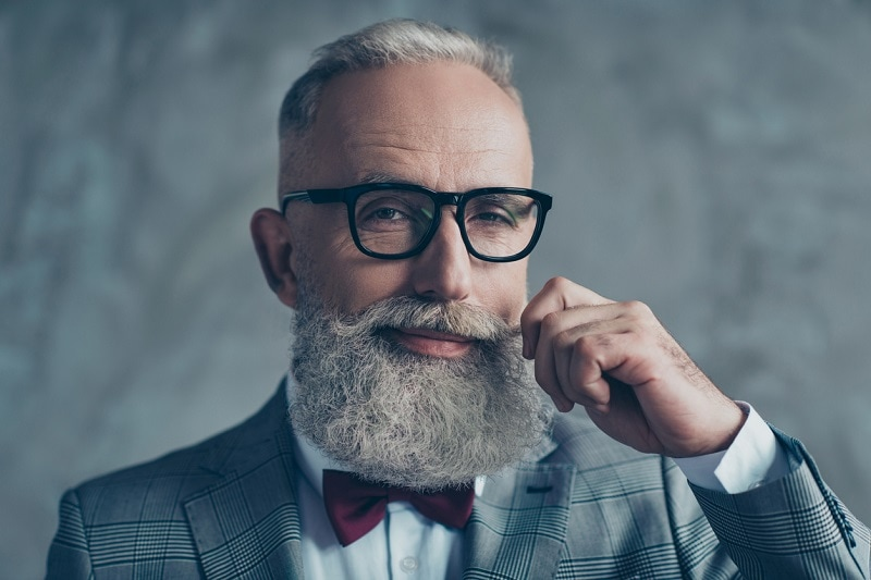 White Curly Full Beard